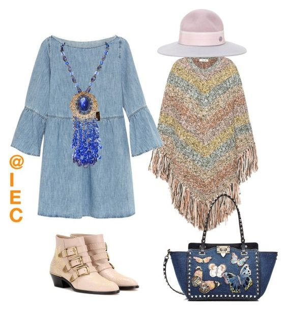 """""""Bring back Spring"""" by kit92 on Polyvore featuring Valentino, MM6 Maison Margiela, Chloé, Maison Michel, women's clothing, women's fashion, women, female, woman and misses"""