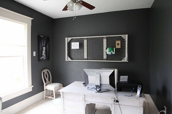 The office colors and bedroom colors on pinterest for Grizzle grey sherwin williams exterior