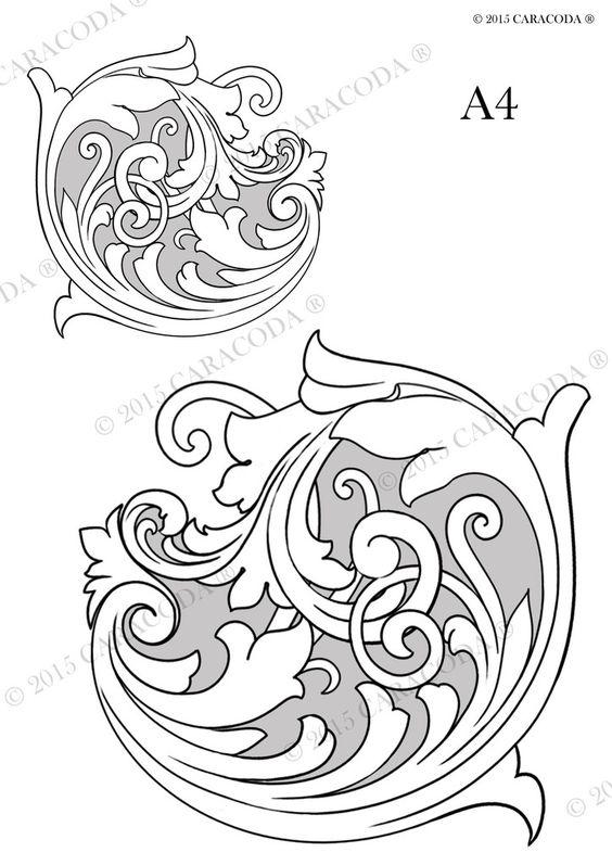 Leathercraft tooling pattern scroll a patterns