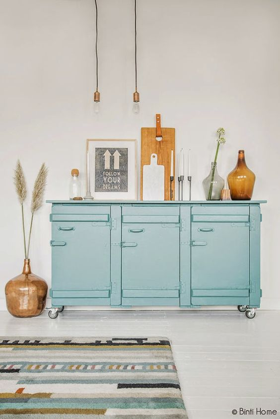 Como integrar en tu salón el color MINT y decorar en MOSTAZA
