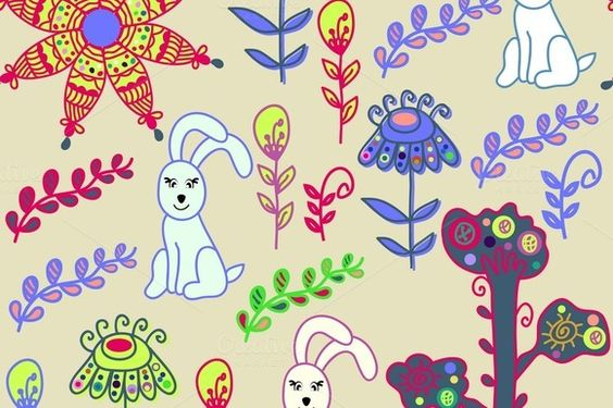 Check out Four animal seamless patterns by LuizaVictorya on Creative Market