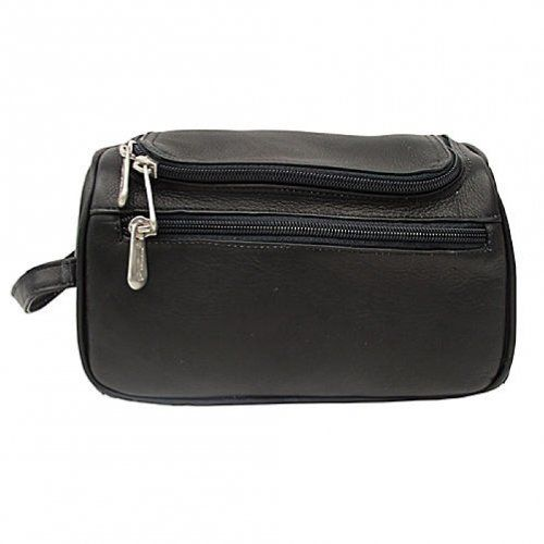 One Size Black Piel Leather Carry-All Bag