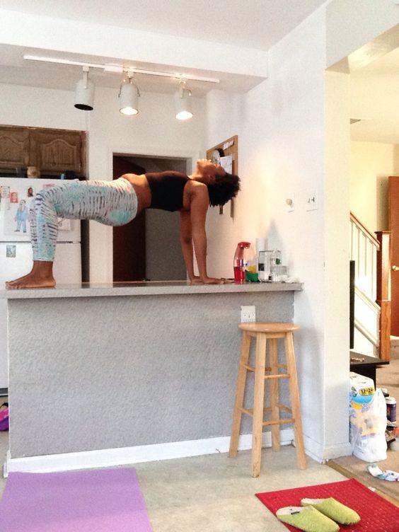 Yoga in my kitchen