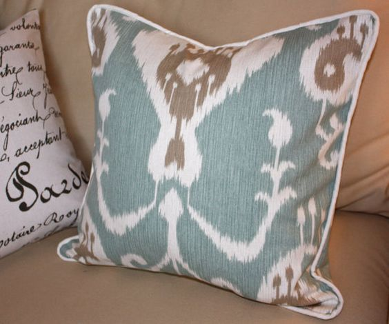 18 x 18 Pillow Cover Java Ikat Print by caromccool on Etsy, $25.00