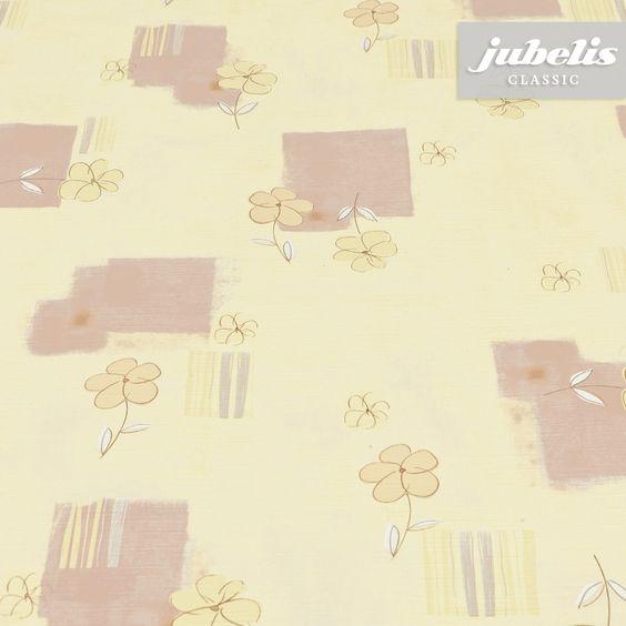 jubelis® PVC-Tischbelag Viola gelb-beige mit Blumen