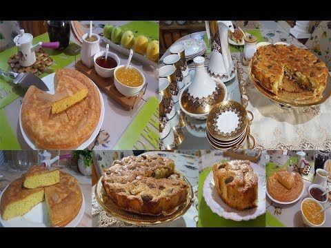 طاولة فطور الصباح وقهوة لعشيةجزائرية بامتياز سفنج مشوشة بمقادير مضبوطة وكيكة التفاح المميزة Youtube Food Breakfast Muffin