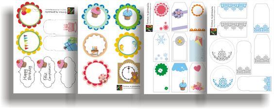 30 Etiquetas imprimibles gratis de Tutorial de Artesania