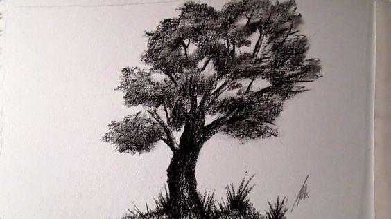 Este solitario árbol esta elaborado con carboncillo y en el que el autor,creo yo, intenta reflejar esos momentos de la vida en el que nos sentimos solos en el universo.