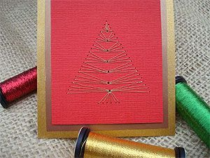 long stitch tree pattern