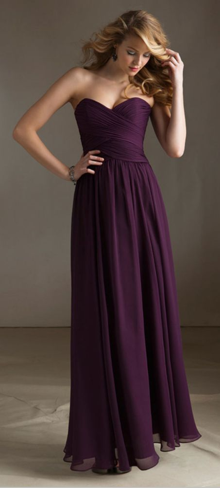 love the purple bridesmaid dresses