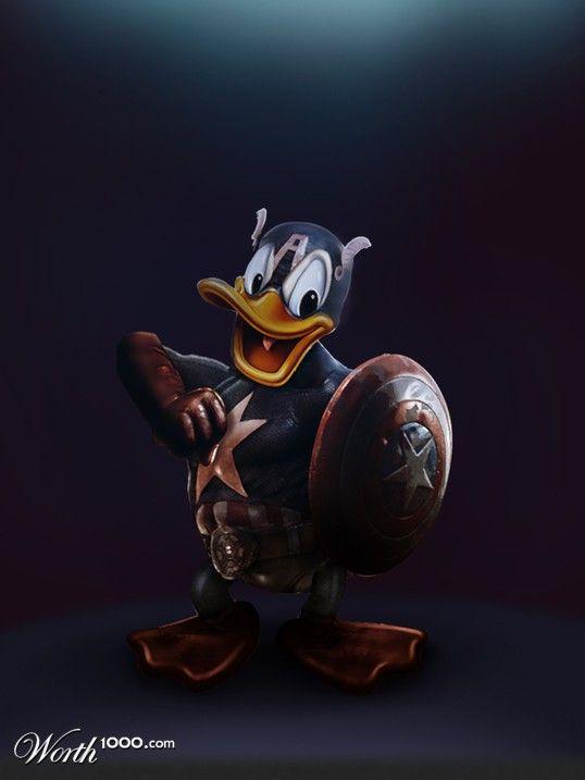 Donald Duck/Captain America