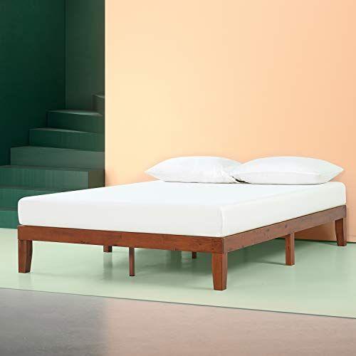Zinus Wen 12 Inch Wood Platform Bed Frames No Box Spring Needed Wood Slat Support Cherr With Images Wood Platform Bed Frame Solid Wood Platform Bed Wood Platform Bed