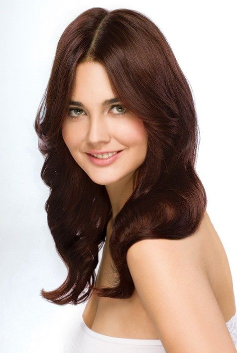Koyu Bakir Kahve Sac Naturliche Haarfarbe Kupferbraunes Haar