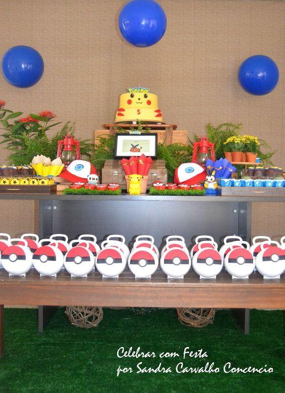 Celebrar com Festa - Sandra Carvalho Concencio - Eventos Personalizados: Festa do Pokémon