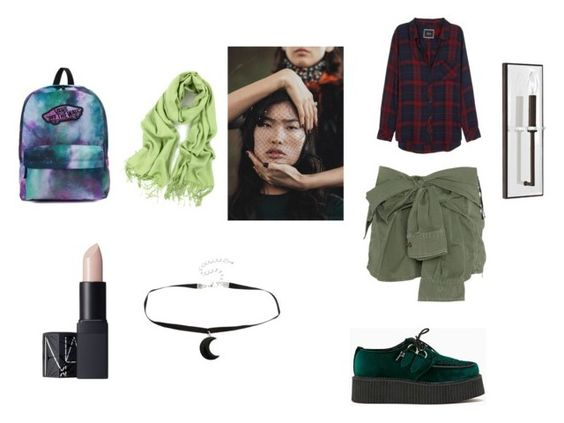 """Polish"" by nadaanja ❤ liked on Polyvore featuring T.U.K., Rails, Faith Connexion, Vans, NARS Cosmetics and Capital Lighting"