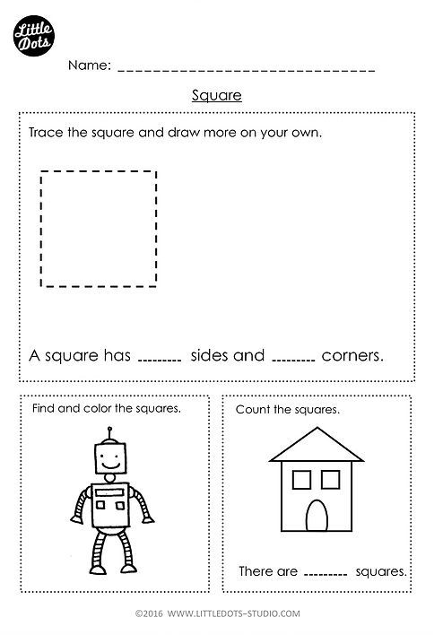 Free Kindergarten Square Shape Worksheet Learn The Basic Properties Of Square Shape And Fi Shapes Worksheet Kindergarten Shapes Worksheets Shapes Kindergarten Square shape worksheets for preschoolers