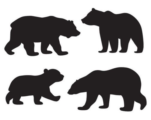 Black And White Mom And Baby Bear Baby Black Bear Black Bear Baby Shower Baby Bear