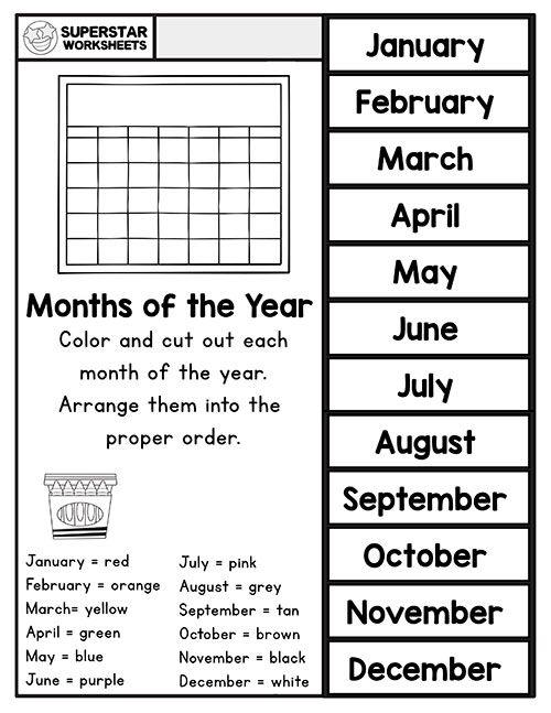 Preschool Assessment Superstar Worksheets In 2020 Preschool Assessment Months In A Year Preschool Sight Words
