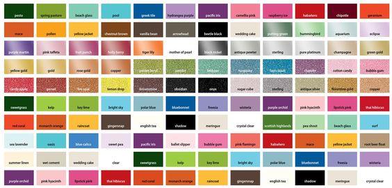Lumiere Paint Color Chart