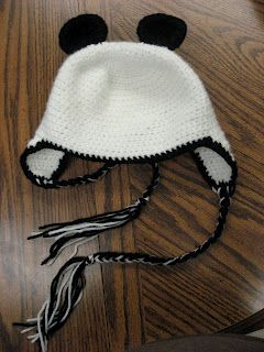 Think Crafty Thoughts: Panda Bear Hat