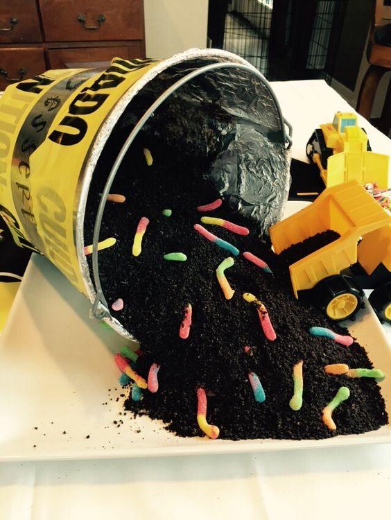 Dirt dessert #boy #babyshower
