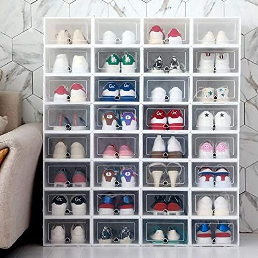 forthery foldable clear shoes storage