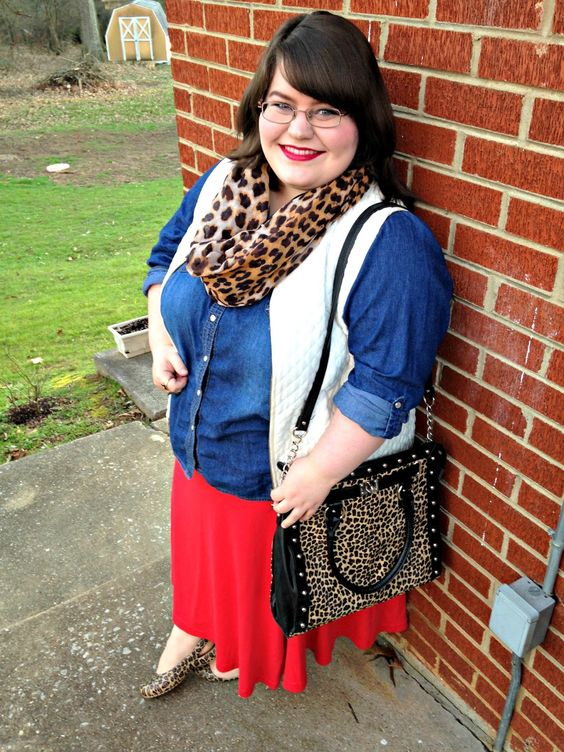 Unique Geek: Plus Size OOTD: Texture Mixing #plussize #plussizeblogger #plussizefashion #leopardprint #churchoutfit #modestoutfit #modestfashion #vest: