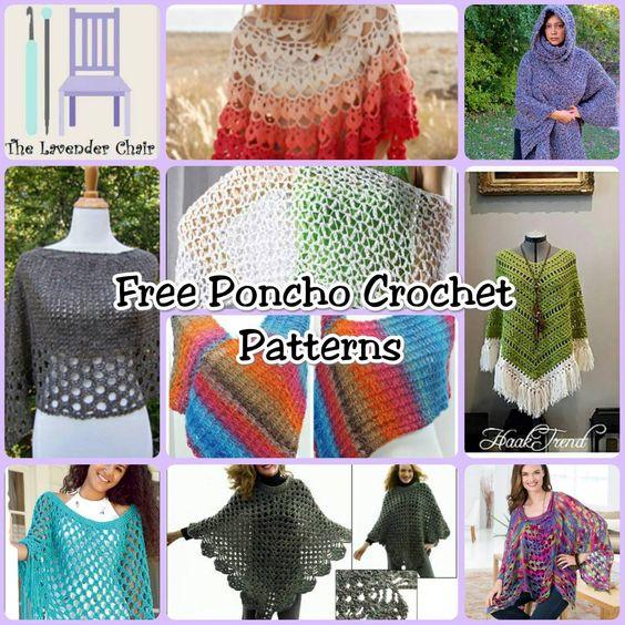 10 Free Crochet Poncho Patterns | Crochet * Cowls * Scarves *Shawls ...