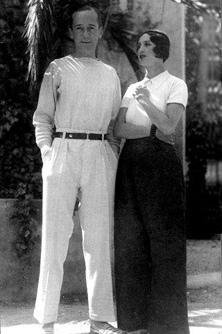 Renee Perle and photographer Jacques Henri Lartigue (via Habitually Chic®: Renee on the Riviera)