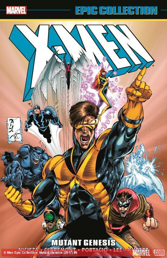 X Men Epic Collection Mutant Genesis Trade Paperback 2017 Jim Lee W B X Men Mutant Comic Heroes