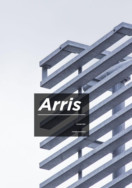Arris  Arris is a publication designed to document the diversity of colour, personality and architecture within the city of Leeds. It has been created for the communities, businesses and organizations in the surrounding area; to inform and educate through pre-existing building design and how it can be used as a source of inspiration. We have taken influence from Pantone® to identify and distinguish colour and understand how it is relative to everyday life. We are a collaborative group based…