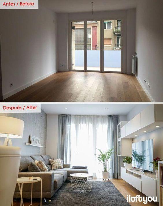 Piso en la calle Marina – i loft you – Interior Design #DepartamentoPequeño #homedecoration #beforeafterhome #beforeafterhomedecoration Source by...