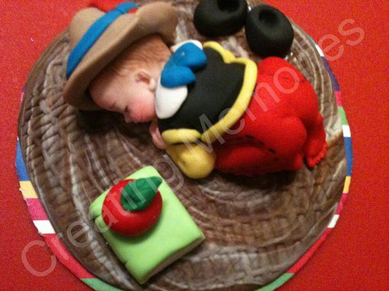 PINOCCHIO Inspired Edible Cake Toppers Made of Vanilla Fondant and gumpaste, BABY SHOWER, First Birthday, Christening, Cake Decorations