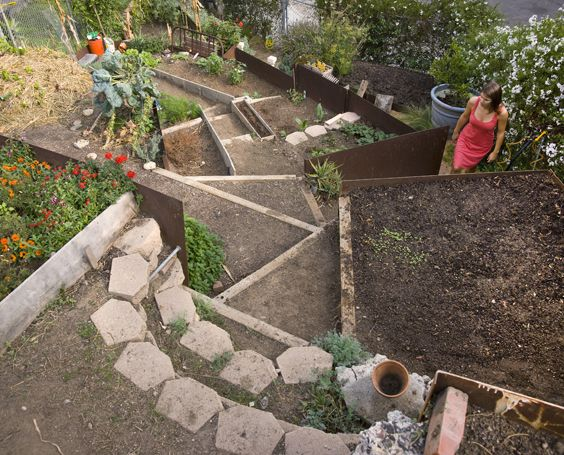 Terraced garden gardens and activewear on pinterest for Terraced landscape definition