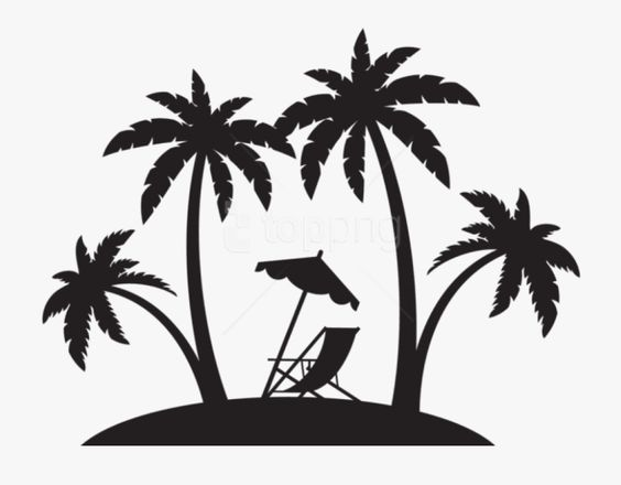 Download And Share Beach Chair Clipart Black And White Beach Palm Tree Silhouette Cartoon Seach More In 2020 Palm Tree Silhouette Silhouette Clip Art Beach Scenes