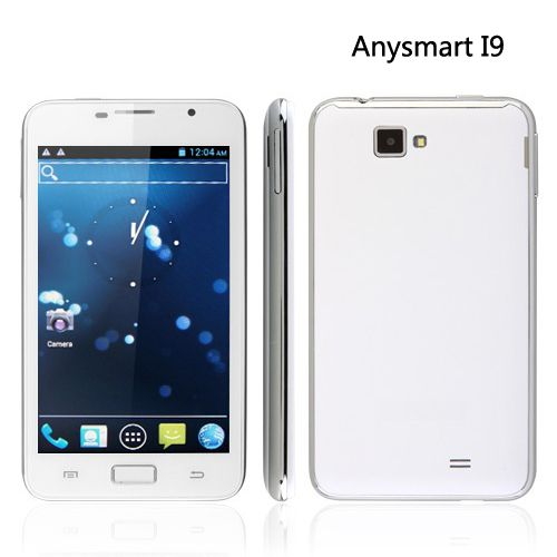 "Anysmart I9: 5.3"" Multi-Touch Capacitive Screen, Dual Cameras, Dual SIM with GSM   WCDMA 3G, Android 4.0 Ice Cream Sandwich Smartphone"