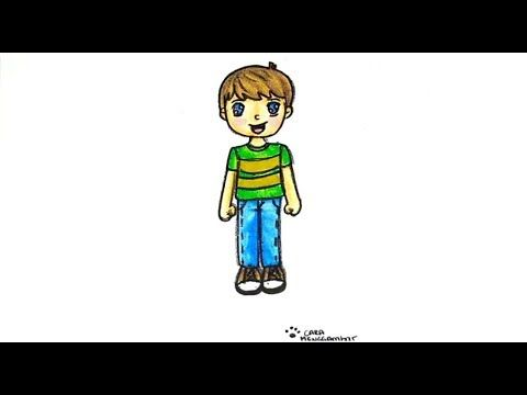 Cara Menggambar Dan Mewarnai Anak Laki Laki Yang Bagus Dan Mudah Youtube Cara Menggambar Anak Laki Laki Anak Laki