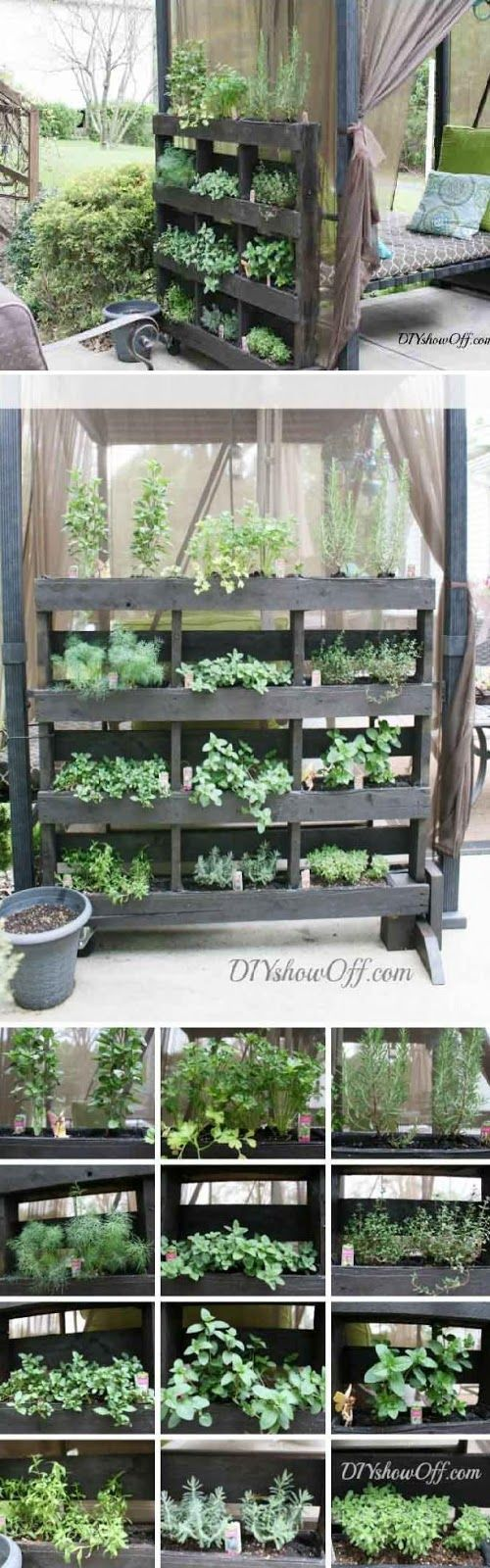 6 diy projects for pallet planters for Diy pallet herb garden