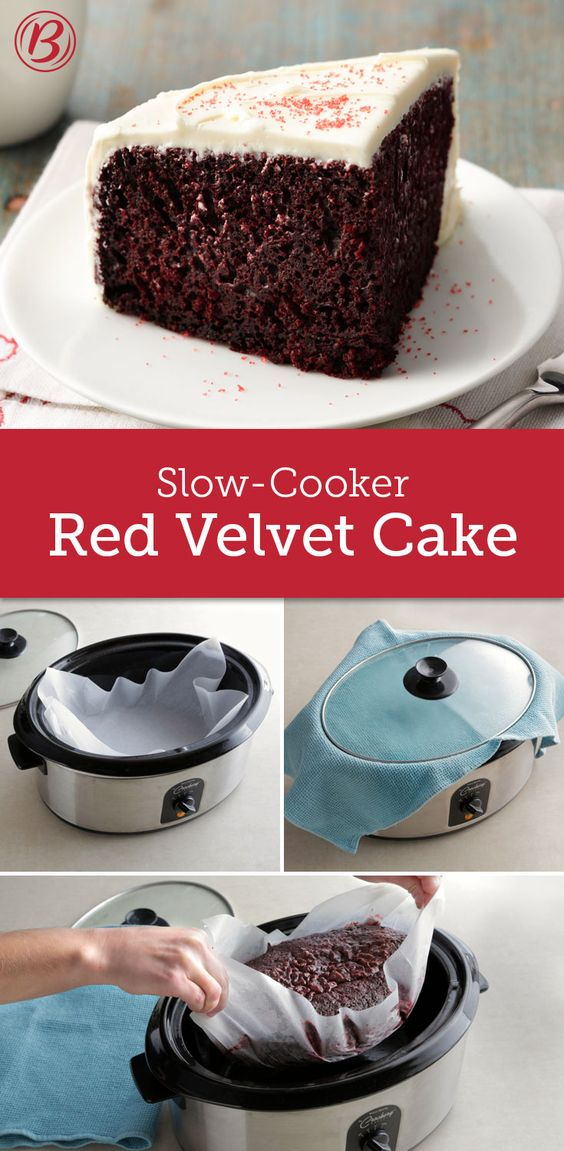 food cake mix gives this slow cooker version of the classic cake ...