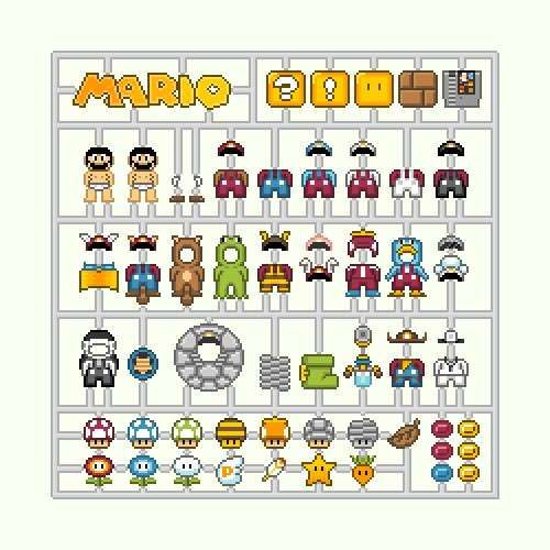 8-Bit Hobby Kits - The Mario Model Kit Illustration Will Delight Nintendo Fans and DIYers (GALLERY)