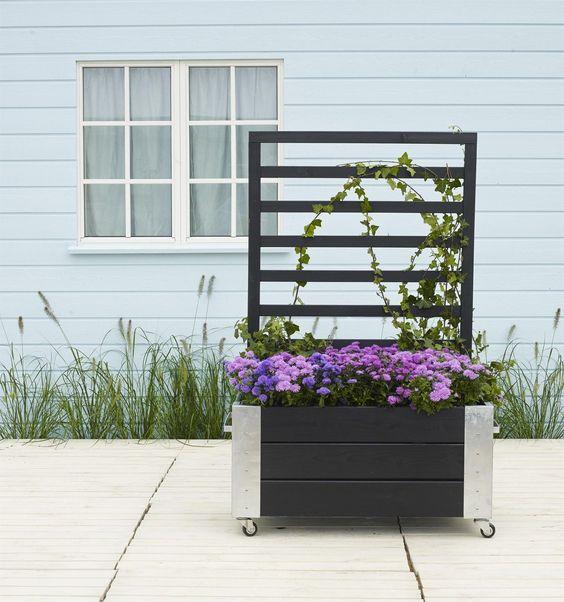 details zu cubic gartentopf mit rankgitter kletterpflanze blumenkasten hochbeet rankhilfe. Black Bedroom Furniture Sets. Home Design Ideas