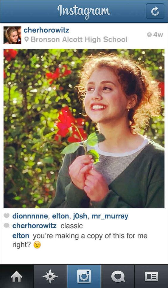 """If Cher From """"Clueless"""" Had Instagram"""