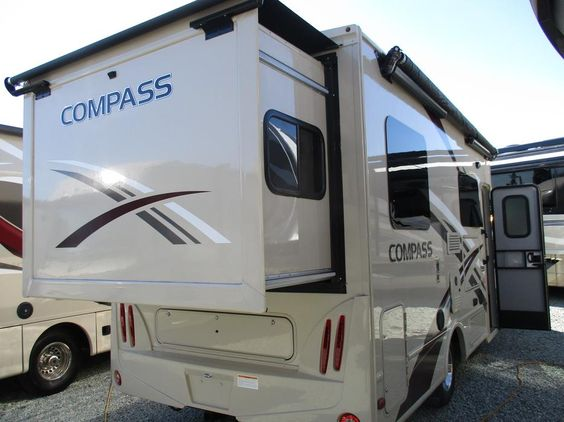 Just in @ Arbutus Rv in Sidney by the sea in Sidney .This New Compass tr has 1 rear slide at the rear of Coach ,Power Awning and a whole lot more . Just call Al in Sales @ Arbutus Rv  In Sidney 250-65