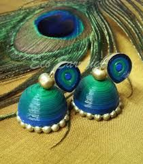 Image result for quilling earrings jhumkas