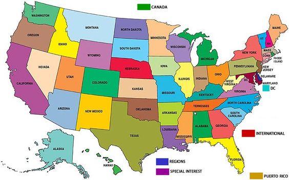 mappa stati uniti - Cerca con Google