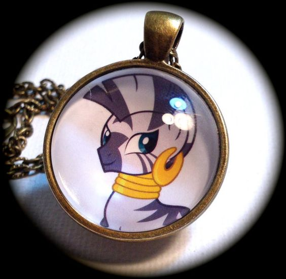 ZECORA . Glass My LITTLE PONY Pendant Necklace . by girlgamegeek, $11.11
