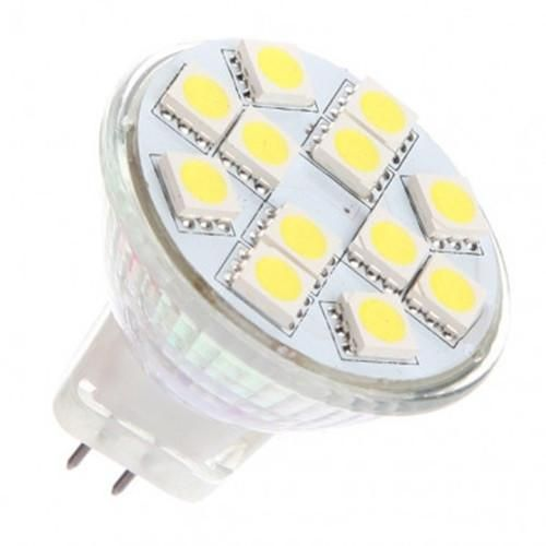 Ac Dc 12v 24v 3w 12x 5050 Cluster Led Light Bulb Mr11 Gu4 Bi Pin Lamp Led Light Bulb Led Bulb