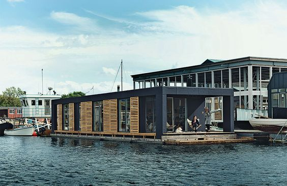 The Residents of This Tiny Floating Home Can Dive Into the Water Two Feet from Bed | Dwell