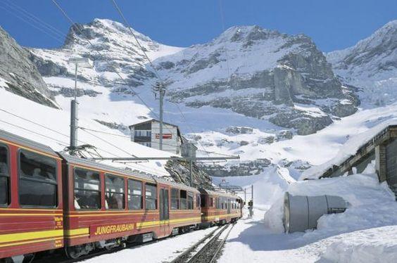 Jungfraubahn, tren cremallera del Jungfrau.