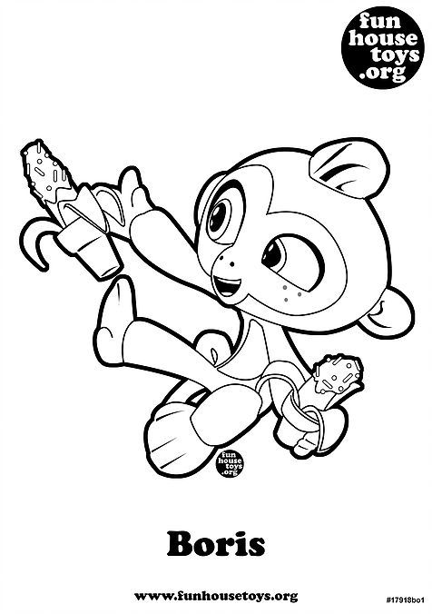 Fingerling Boris Printable Coloring Page Printable Coloring